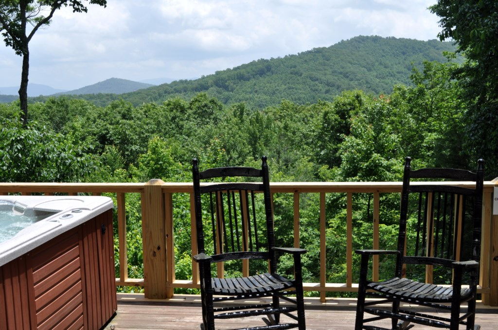 Rock away your worries from Beary Sweet`s back porch