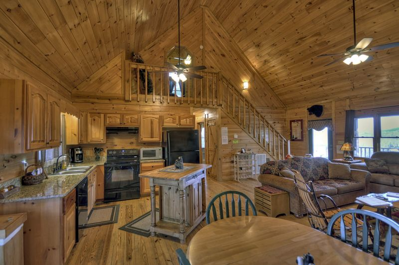 Open concept living making those family gatherings easier