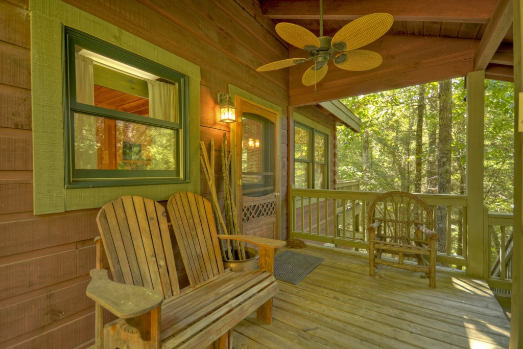 Relax and unwind with a book or just be at one with nature on the porch