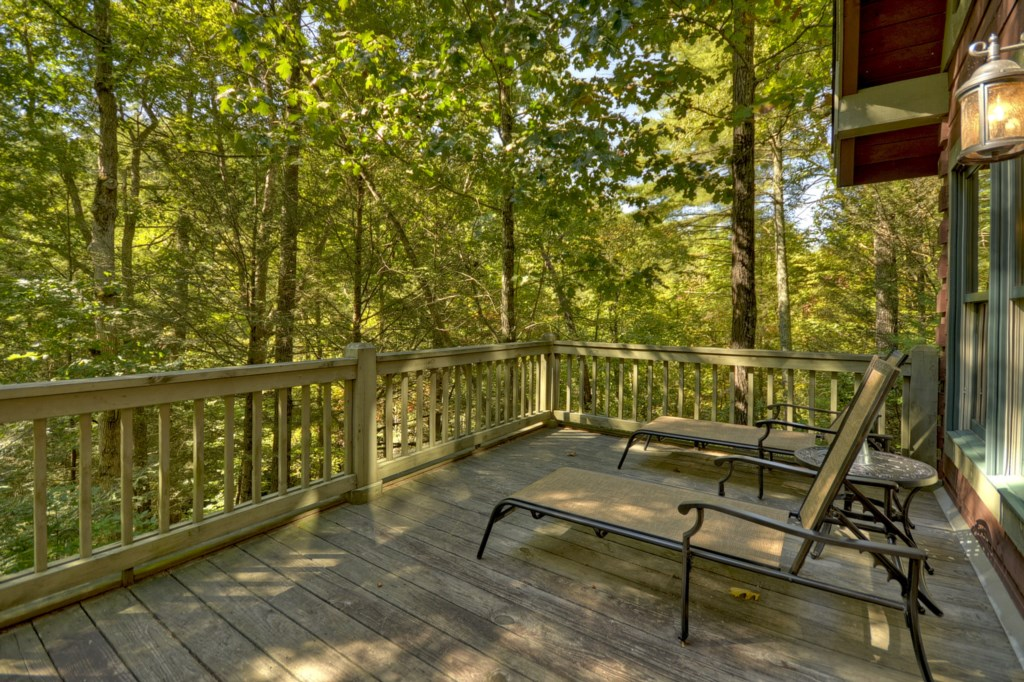 Relax on the deck & let Turniptown Creek serenade you