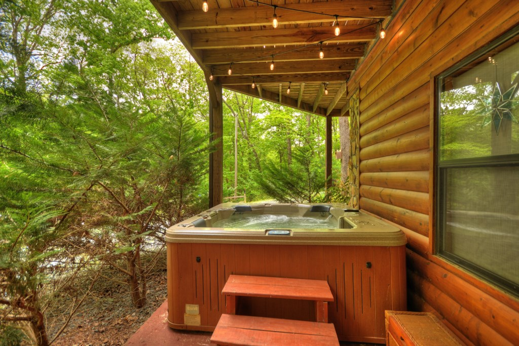 Hot tub located on Terrace Level