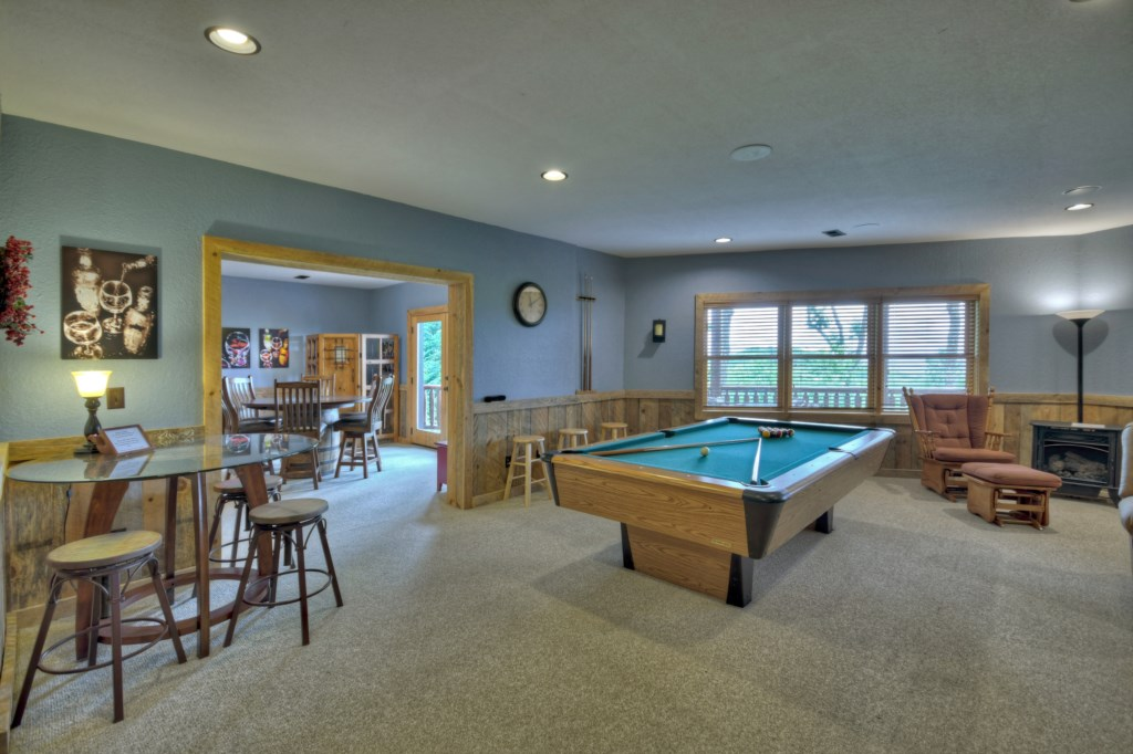 Pool Table, Media area and Gaming Table