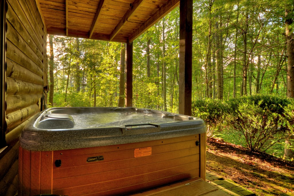Enjoy the amazing views whilst soaking in your Hot Tub off the Terrace Den area