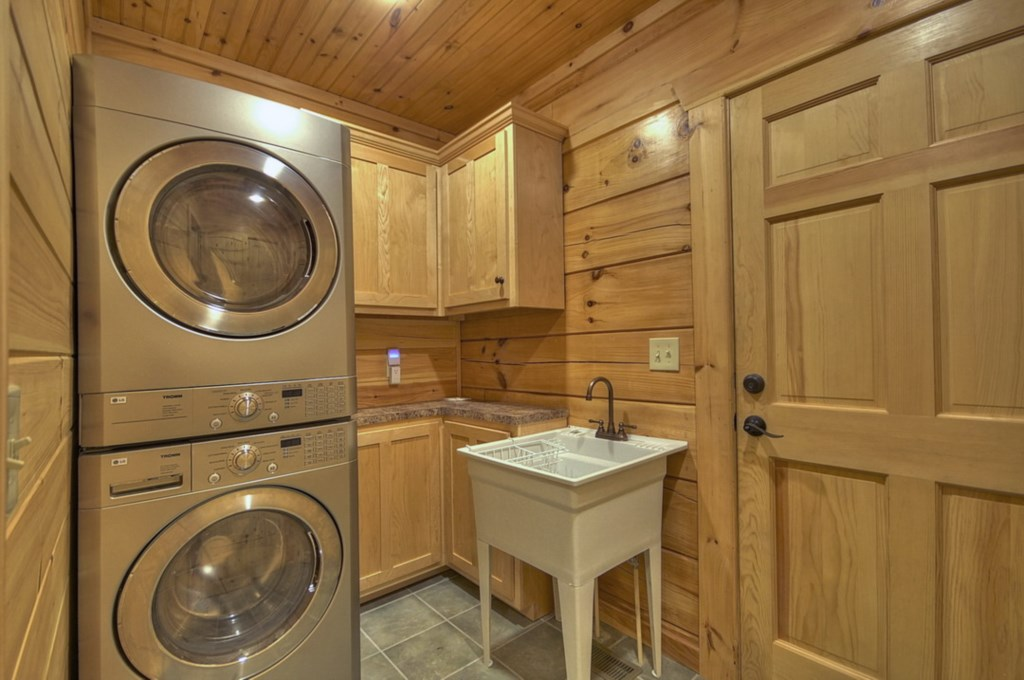 Laundry room located on main level