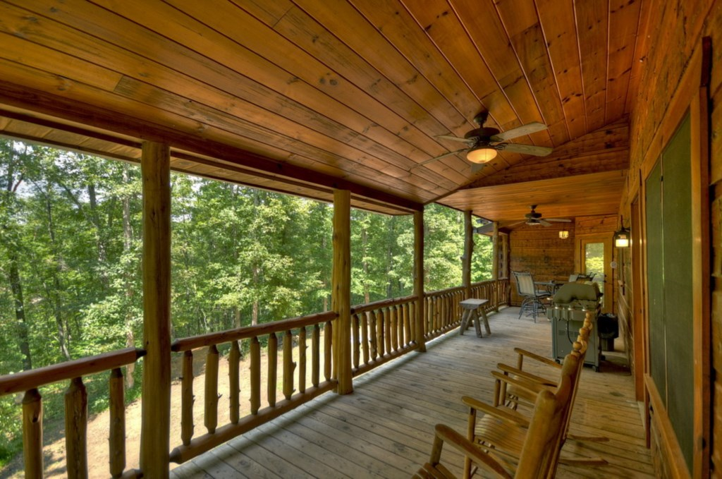 Enjoy your mornings and evening relaxing on the rocking chairs