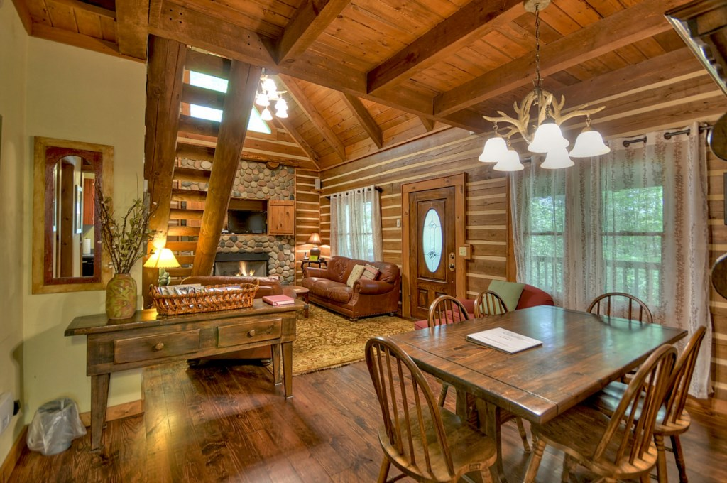 You will be impressed by the simple rustic charm and the tasteful decor throughout