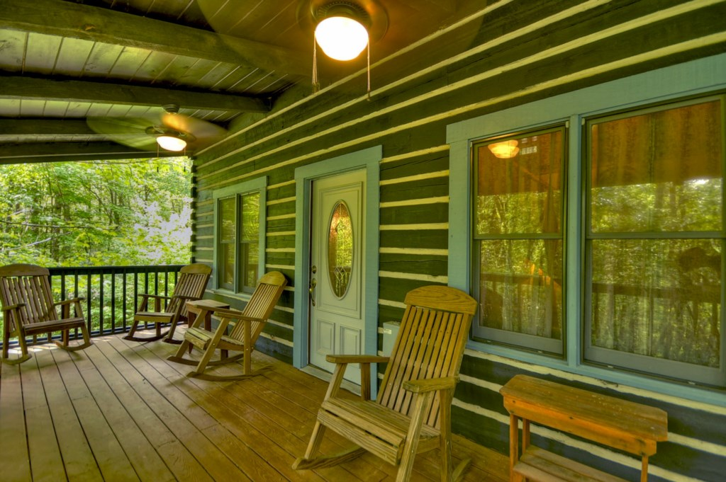 Sit back and relax in your rocking chair on the large outdoor porch