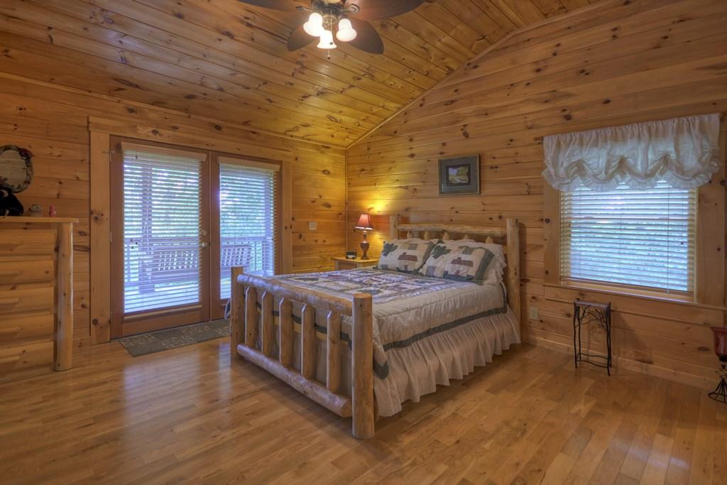 Queen Bed in Loft Level bedroom with half bath
