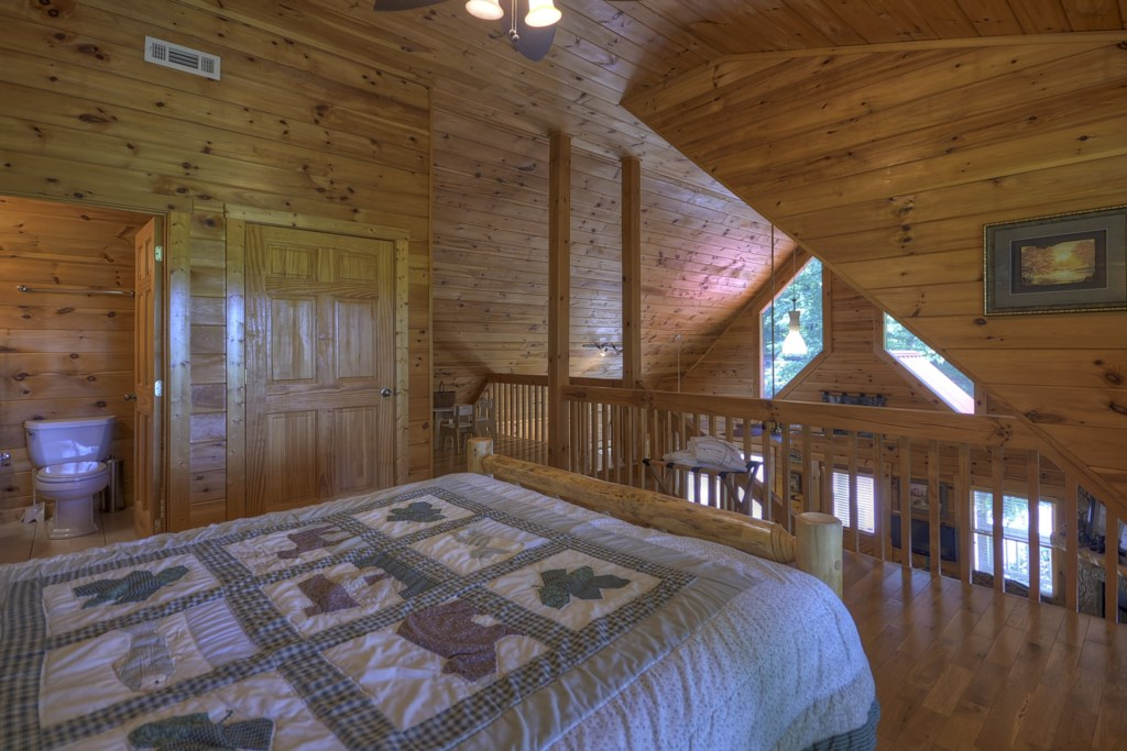 Open loft queen bed