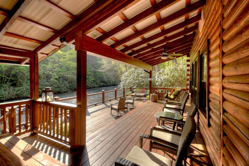 Plenty of seats and decks to sit back relax and unwind as you take in the surroundings