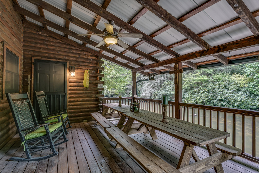 Outdoor Dining area on covered porch