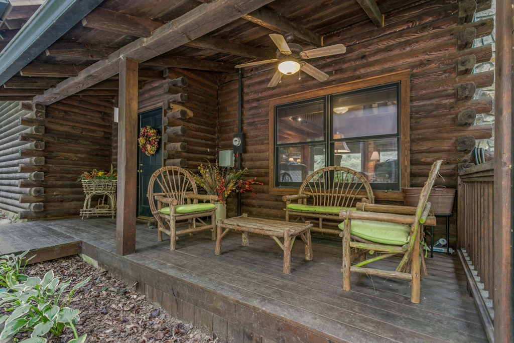 Comfortable Front porch sitting area