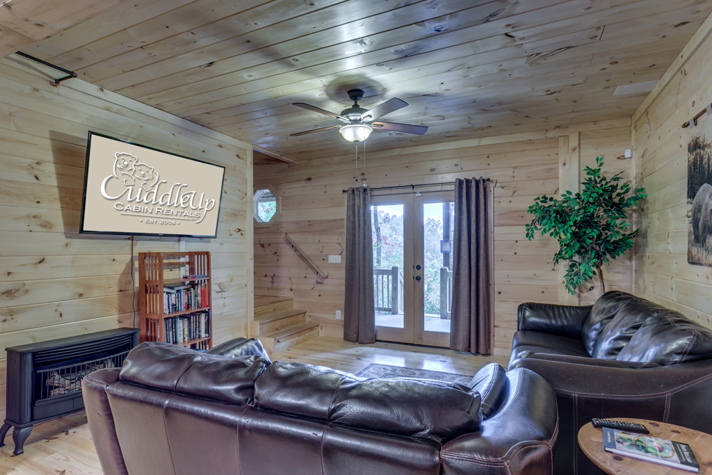 Country Dreams comfortable Terrace Level Den with 62in Flat Screen