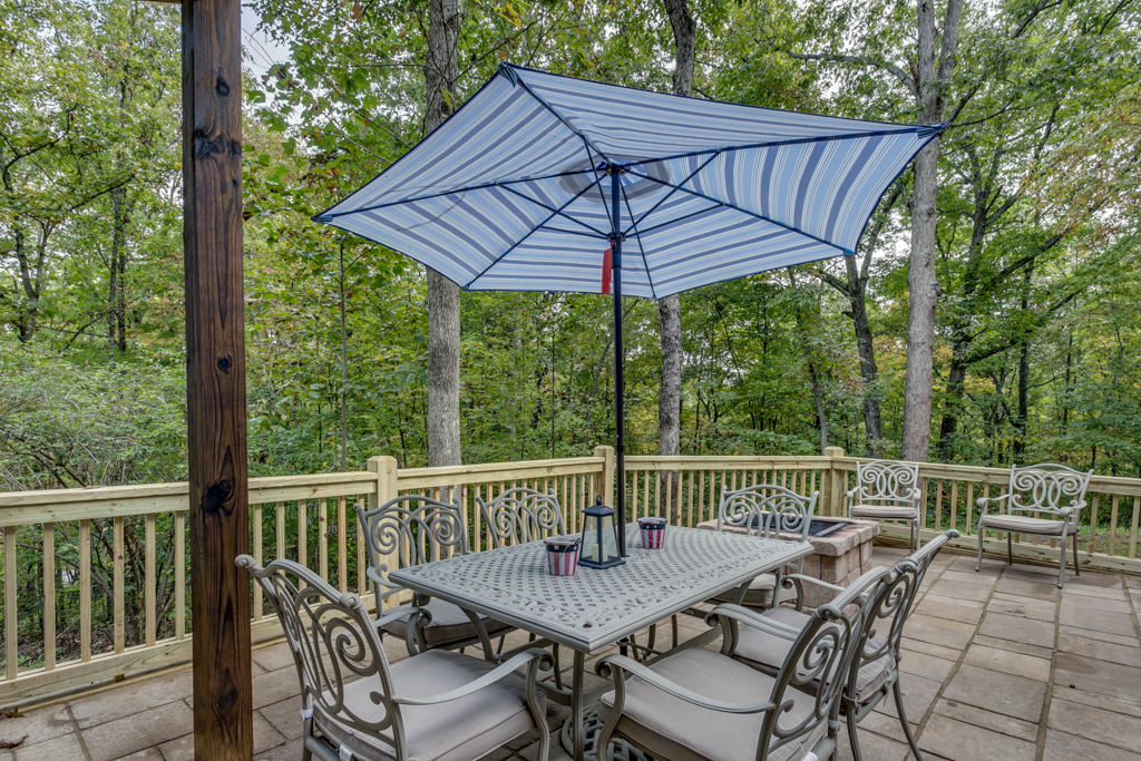 Beautiful outdoor space to entertain and take in the wonderful view