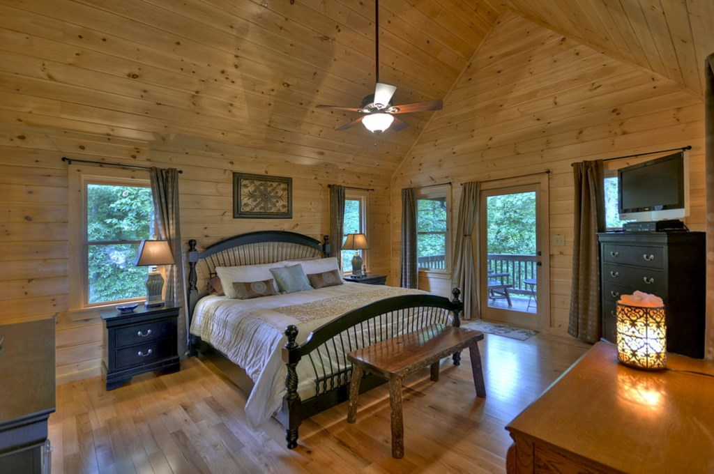Enjoy the secluded serenity of the Loft Level Master Suite