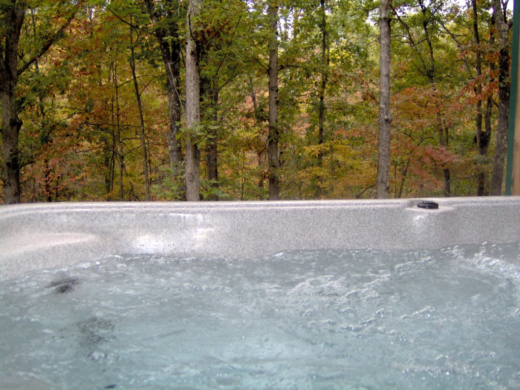 Soak away the aches of the day in the hot tub and wonder in the magnificant view