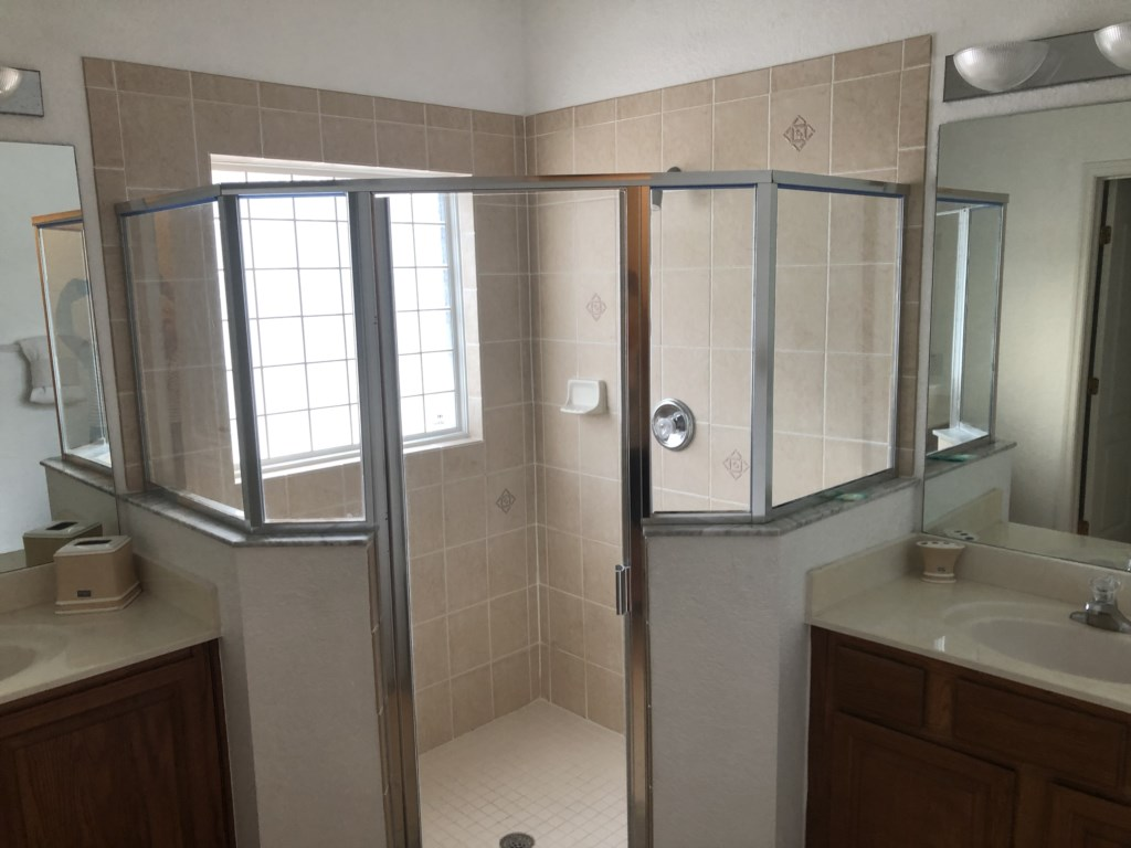 Master Bathroom walk-in shower enclosure