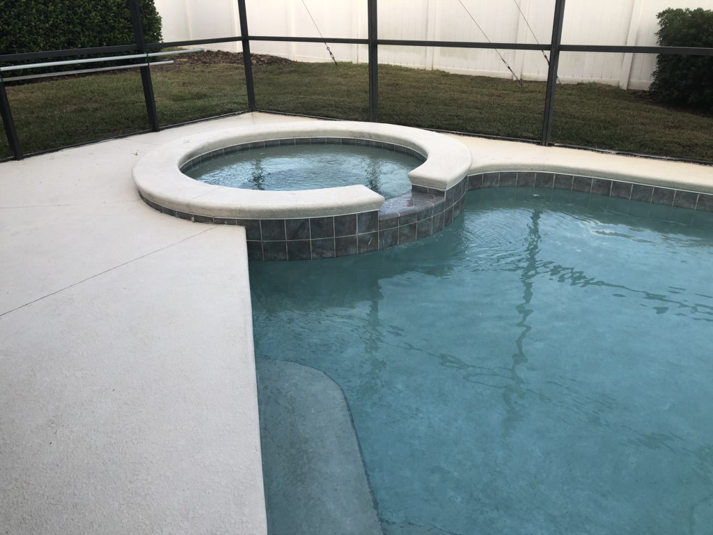 Enjoy soaking up the Florida sunshine from your own Private Pool and Spa