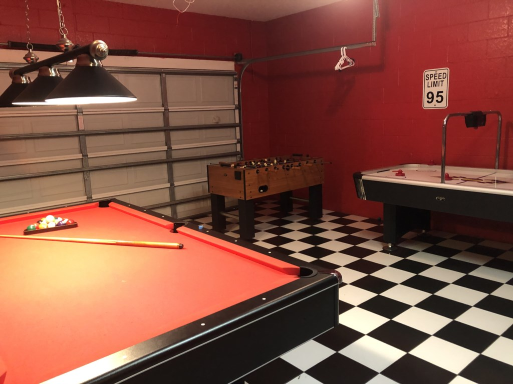 After a fun day of Parks unwind in your own Game Room