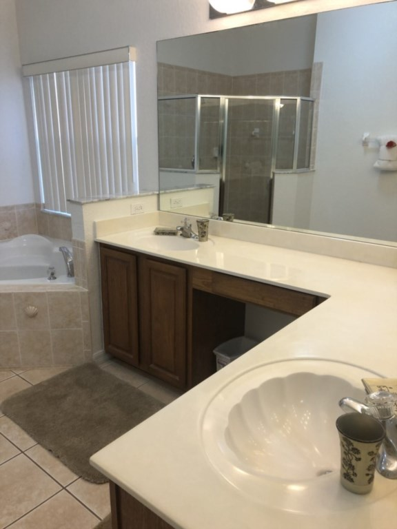 Mater Bathroom with double vanities