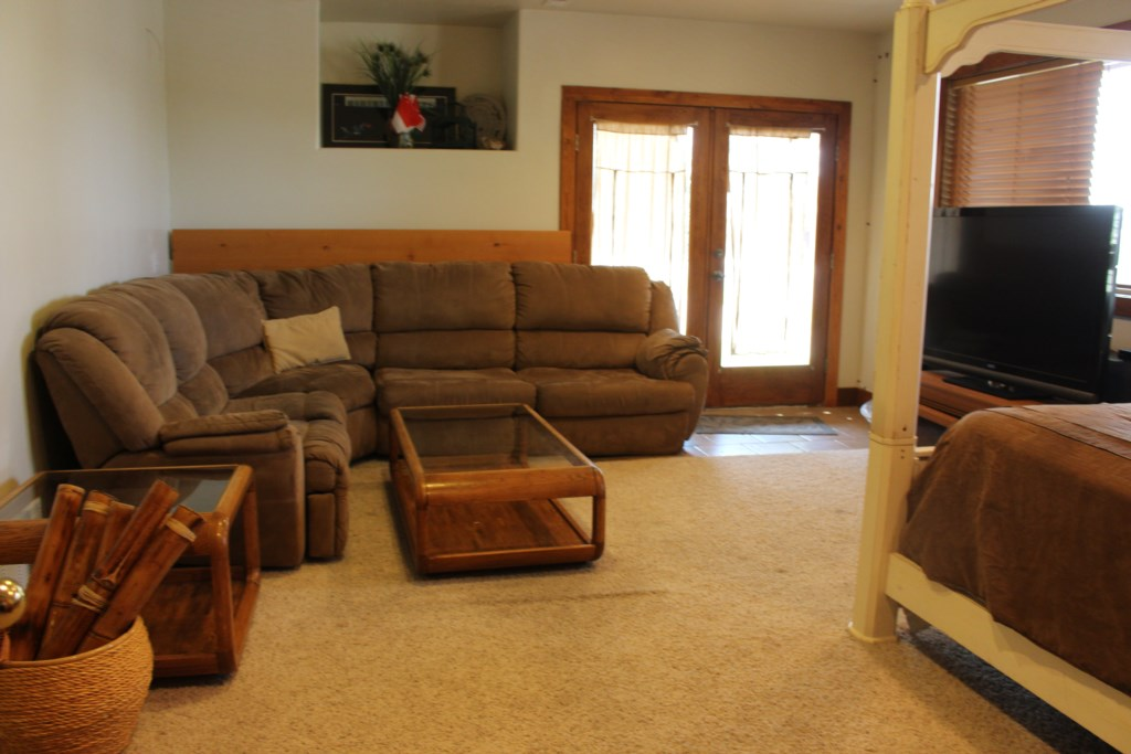 Family Room First Floor with Queen Canopy Bed