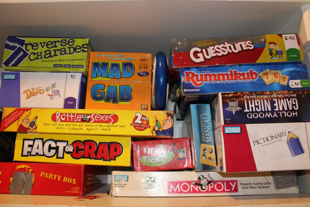 Games available in Pantry
