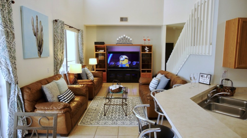 Comfortable seating to enjoy your favorite movie.