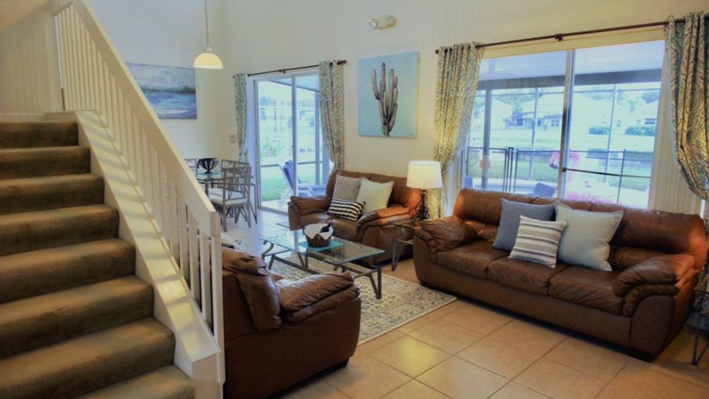 Open concept living/dining and kitchen ideal for family living.
