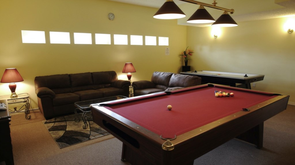 Recently upgraded Game room - comes with a full size Professional Slate Pool Table and down-lightin