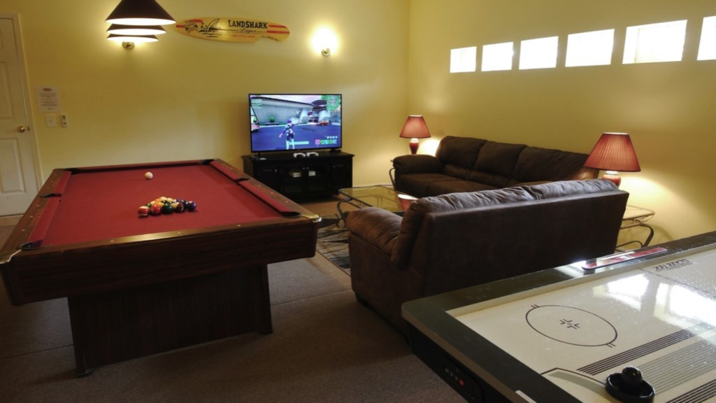 Everything you could want in a Game room - including a Huge 55