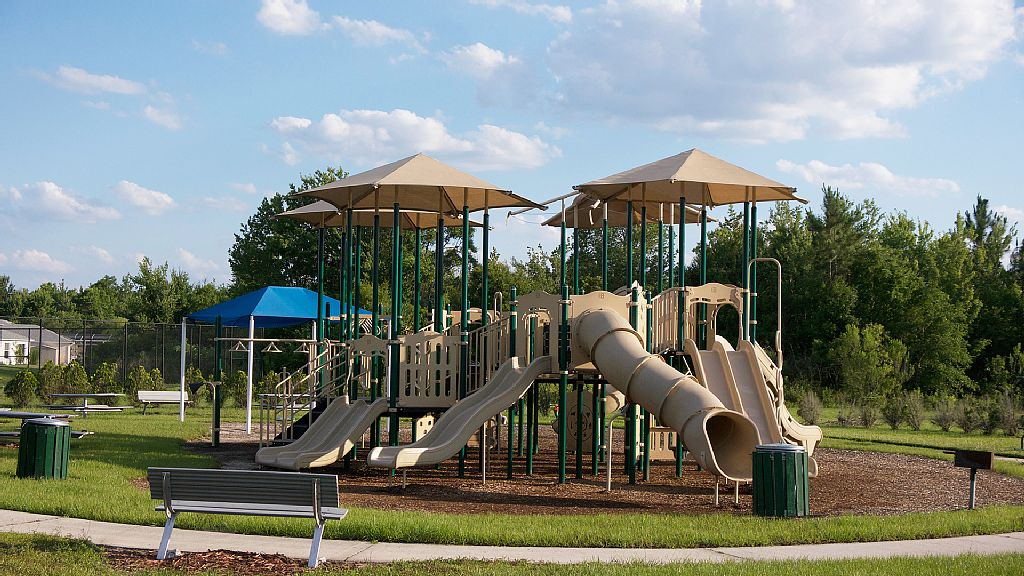 There is playground within walking distance for the children.