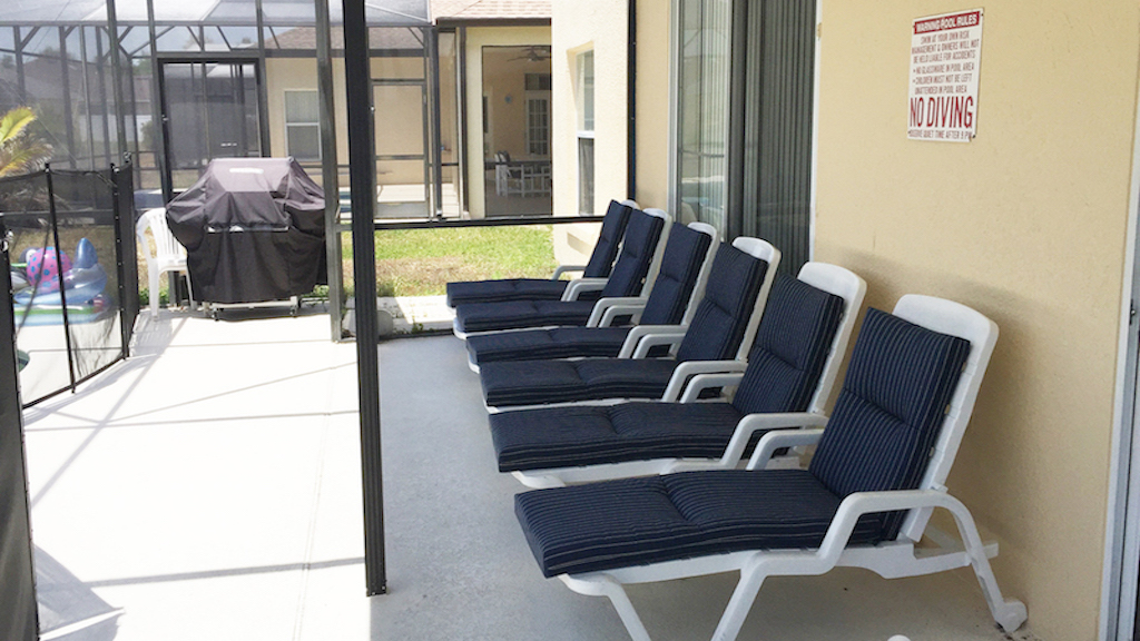 Lots of loungers so you can soak in the Florida sunshine.