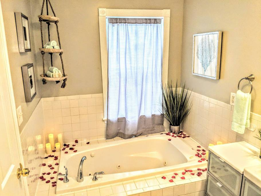 Relax in our beautiful bathtub!