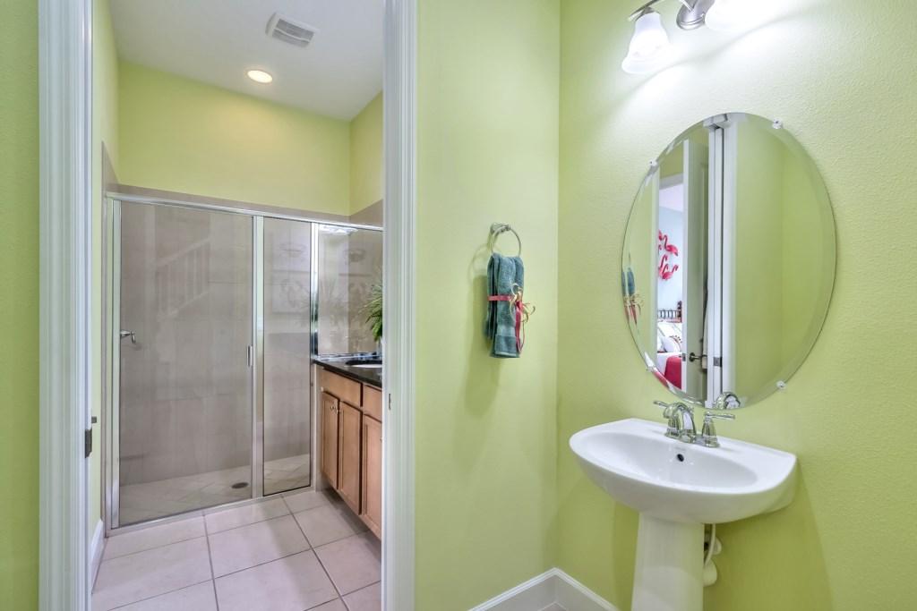 Master Bathroom / Hallway Powder Room