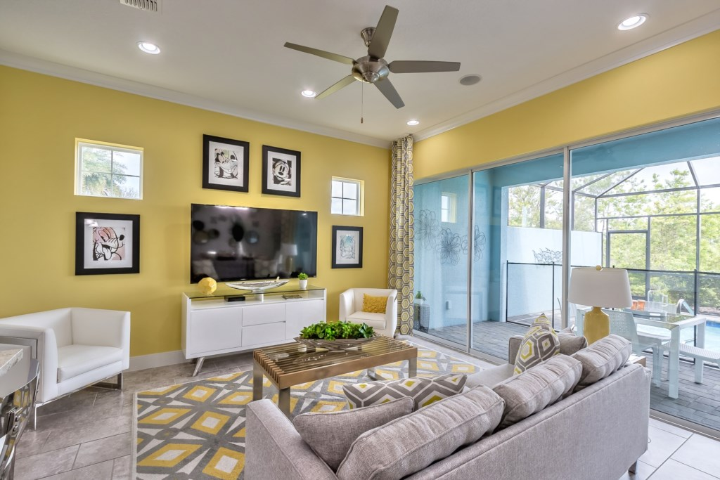 Living Room w/ LG OLED Dolby Tv