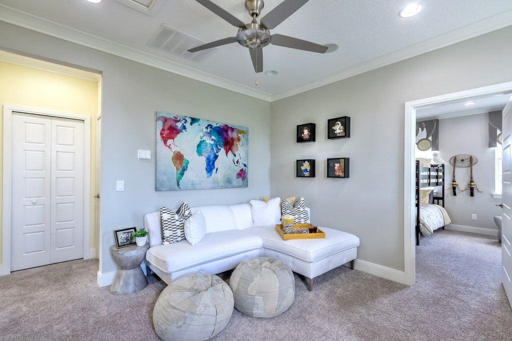 Upstairs TV Seating Area
