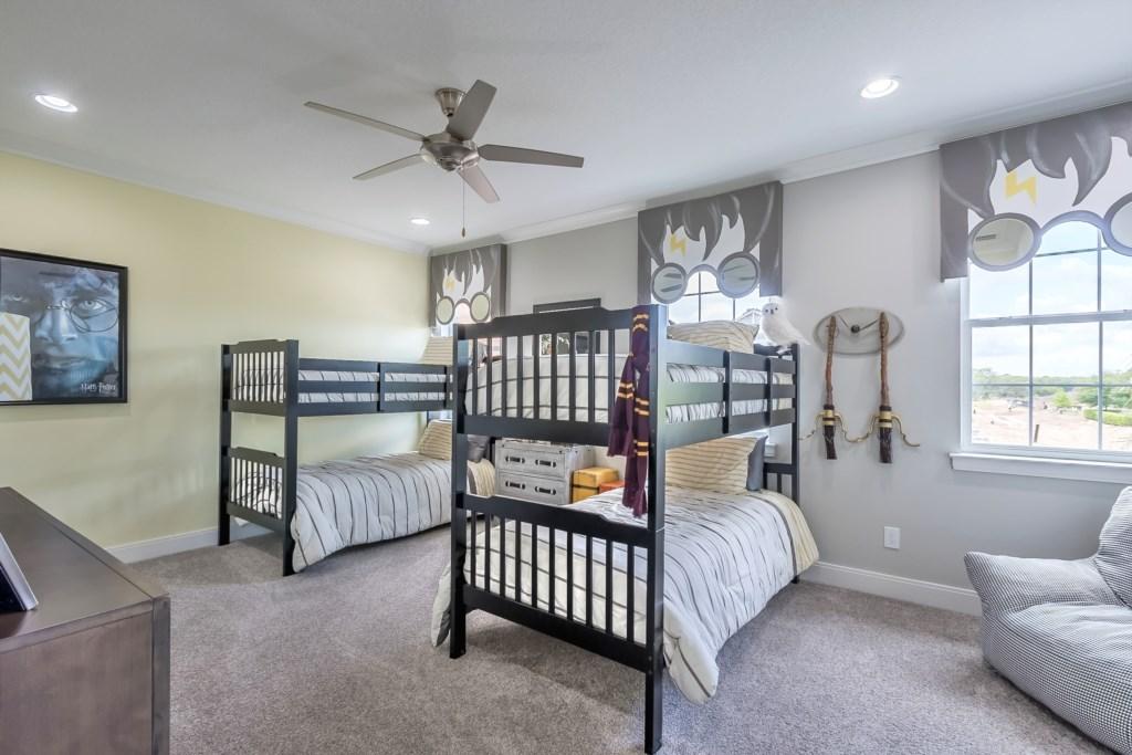 2nd Bedroom w/2 sets of bunk beds