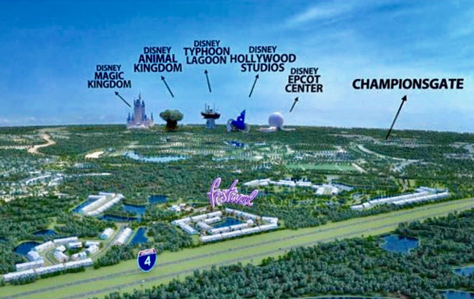 Festival Area Map to Parks