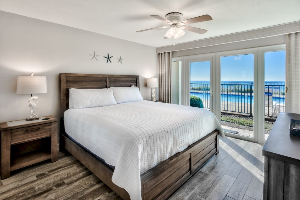 The King Bedroom Overlooks The Gulf of Mexico