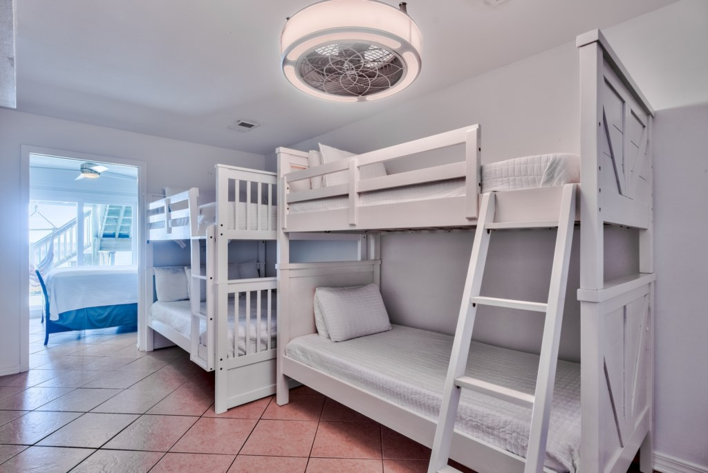 1st Floor Queen over Queen Bunk Beds and Twin over Twin Bunk Beds
