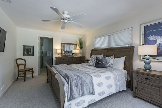 Master Bedroom at The Sand Dollar Beach House