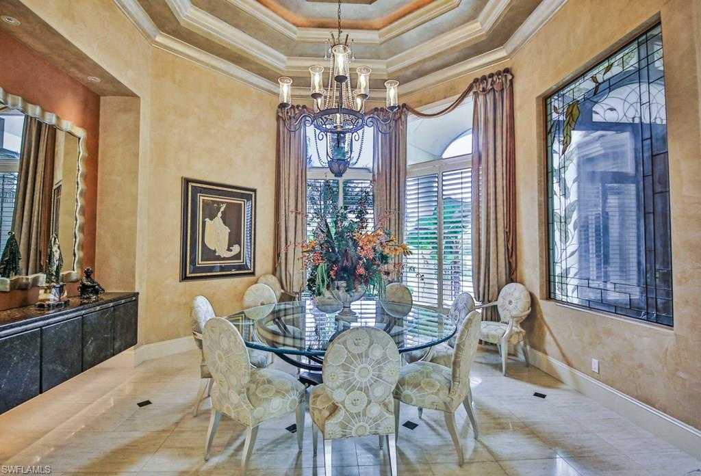 Formal dining area for luxurious dinners