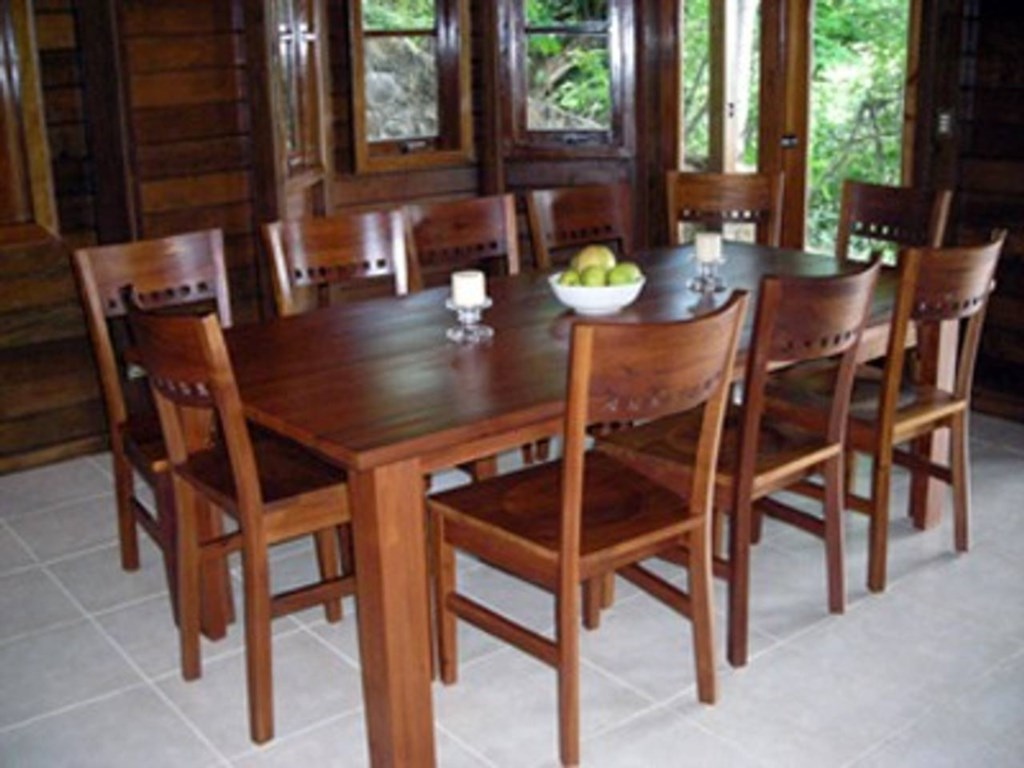 Dining table made from native woods