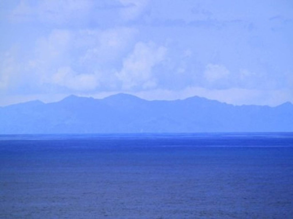Outline of Costa Rica across the water