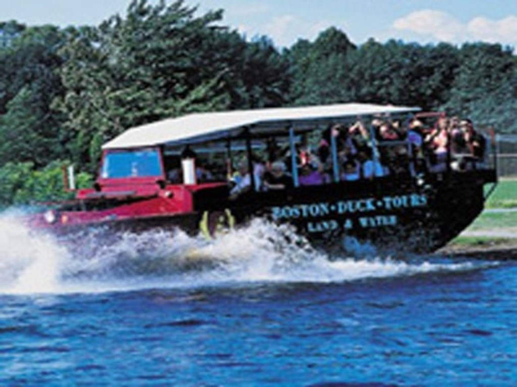 On the Boston duck tours, the tour guide will drive the duck boat right from the street into the riv