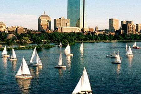 The Charles River is right nearby, with public sailing and miles of bike and running paths.