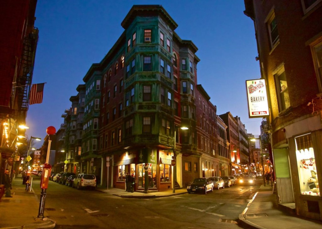 The North End has the best Italian food and is full of history