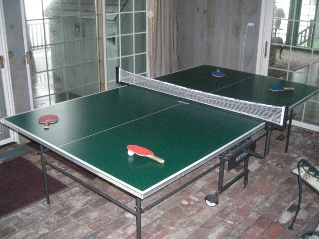 The ping pong room is great on a rainy day!