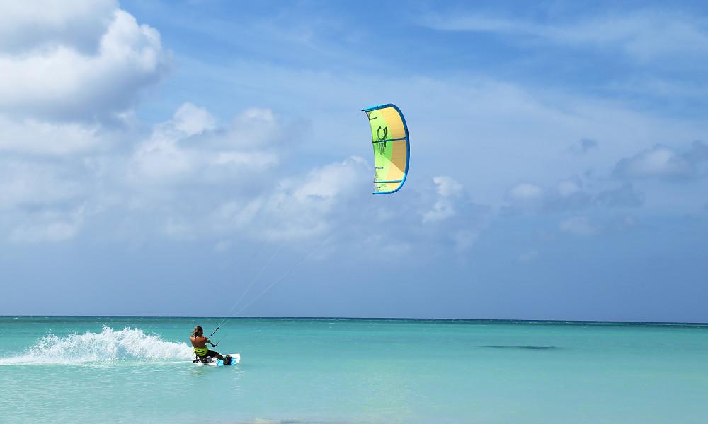 Kitesurfing at Malmok