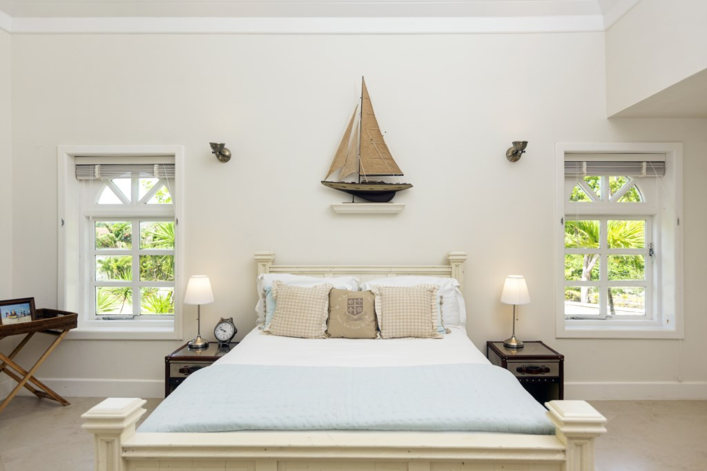 Second bedroom, located just off the first has a queen bed.